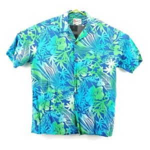 Hilo Hattie Floral Hawaiian Shirt Size Large
